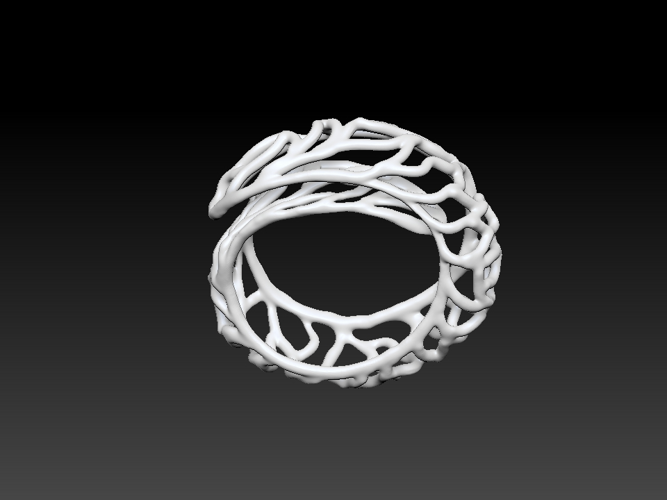 IZABEL LAM CORAL LAP BRACELET  3D PRINTED BOTTOM VIEW