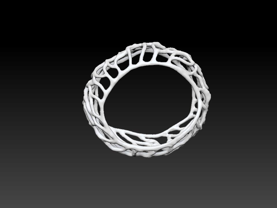 IZABEL LAM CORALSPIRAL BRACELET 3D PRINTED 3QUARTER VIEW