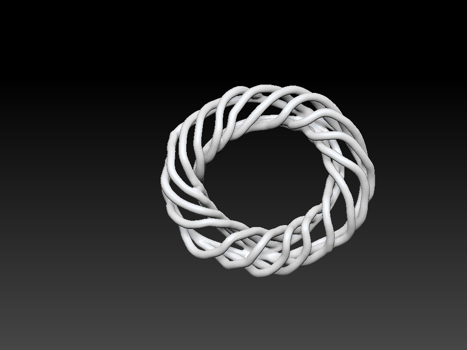 IZABEL LAM CORAL SPIRAL BRACELET  3D PRINTED BOTTOM VIEW