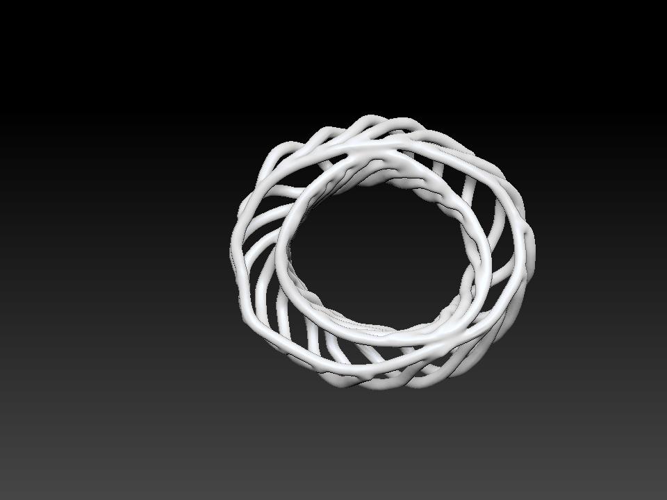 IZABEL LAM CORAL SPIRAL 3D PRINTED BRACELET TOP VIEW