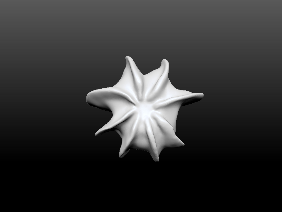 IZABEL LAM CORAL STAR 3D PRINTED VASE BOTTOM VIEW