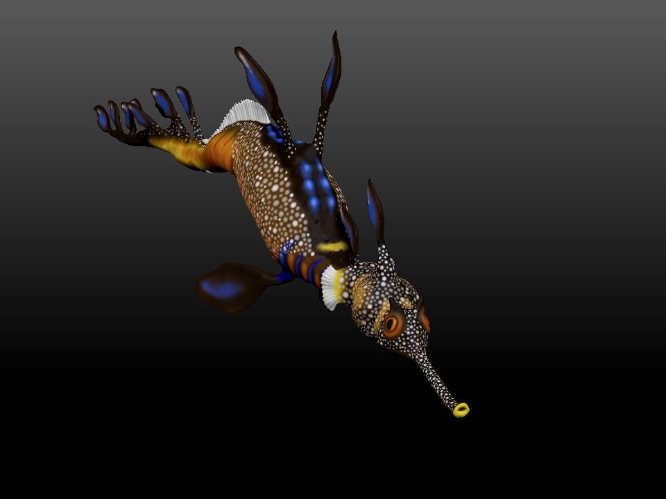 IZABEL LAM DYLAN THE SEA DRAGON SCULPTURE 3D PRINTED CLOSEUP VIEW
