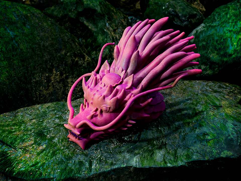 IZABEL LAM THE EMPEROR DRAGON SCULPTURE 3D
