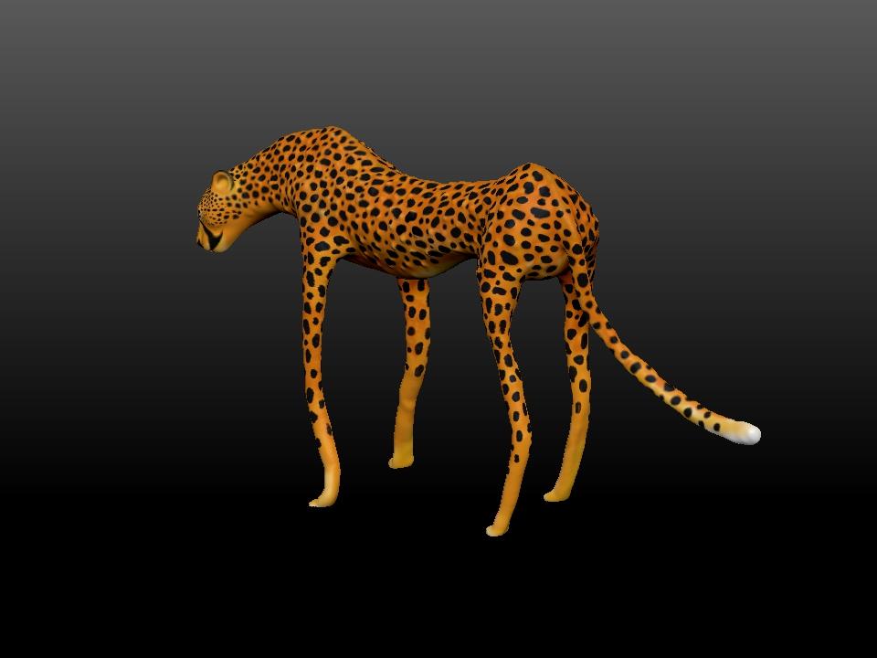 IZABEL LAM - ZATITI THE CHEETAH SCULPTURE 3D PRINTED 3QUARTERBACKVIEW