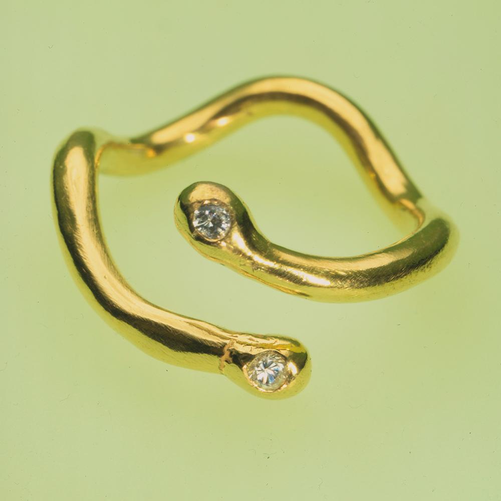 Izabel Lam Coral Diamond Ring